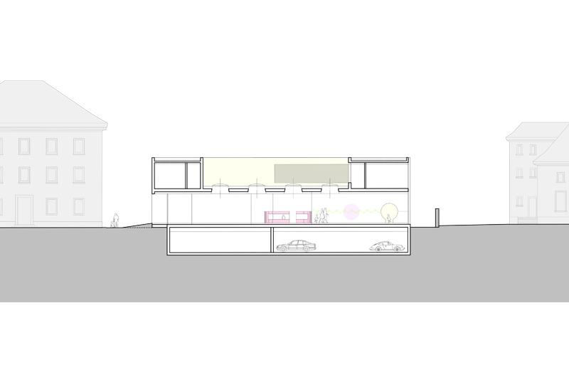 Architektur Marion Wicher_yes-architecture_Dornbirn_WB Kindergarten Marktstraße_04_Schnitt_800x530