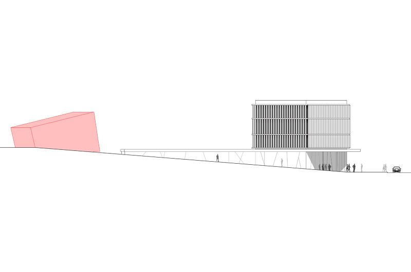 Architektur Marion Wicher_yes-architecture_Gumpoldskirchen_WB Gemeindezentrum Gumpoldskirchen_06_Ansicht_800x530