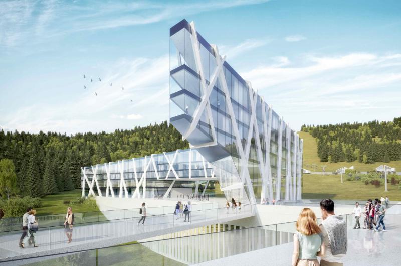 Architektur Marion Wicher_yes-architecture_Russland_WB Manzherok_05_exterior_hotel_von_unten_0_800x530